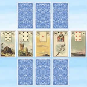 Kartenlegen mit lenormand karten